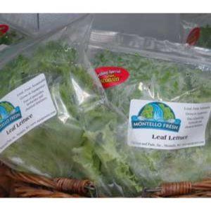 """Lettuce Bag 10"""" x 13"""", Zip Top - Quan: 100"""