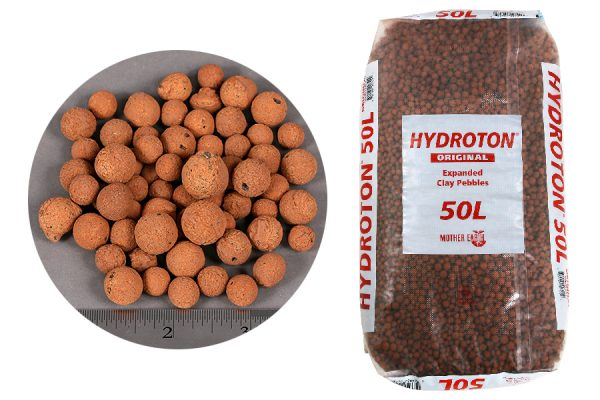 Hydroton Expanded Clay Pebbles, 8-16mm