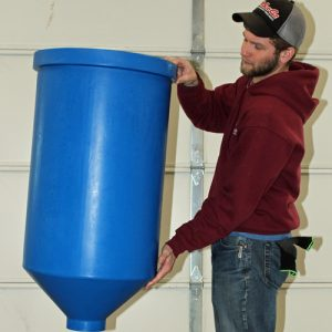 Cone Bottom Tank for Aquaponics, 30 gal