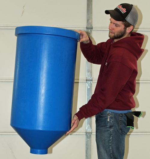 Cone Bottom Tank for Aquaponics, 30 gal