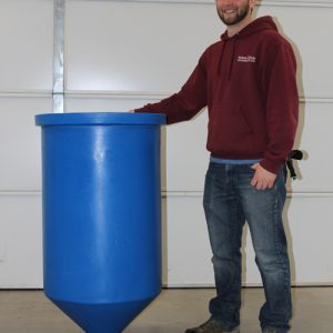 Cone Bottom Tank for Aquaponics, 55 gal