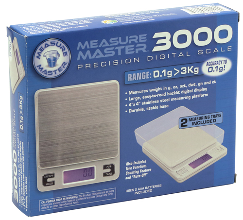 Measure Master® 3000g Precision Digital Scale with 2 Trays